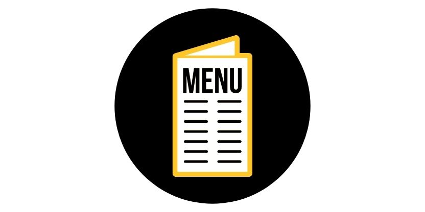 Dining location menus button